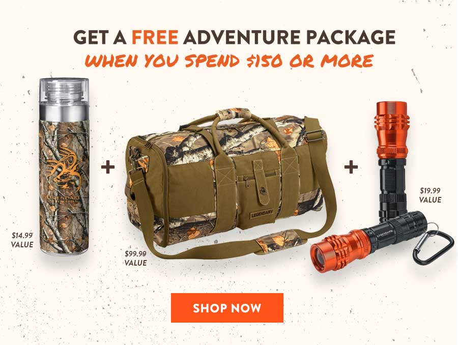 Spend $150 or More & Get The Adventure Package For Free