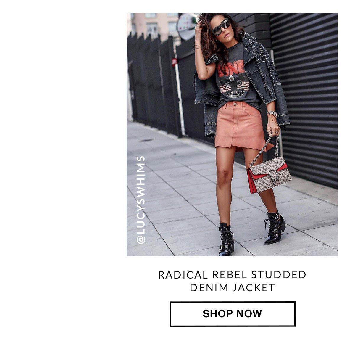 Radical Rebel Studded Denim Jacket. Shop Now.