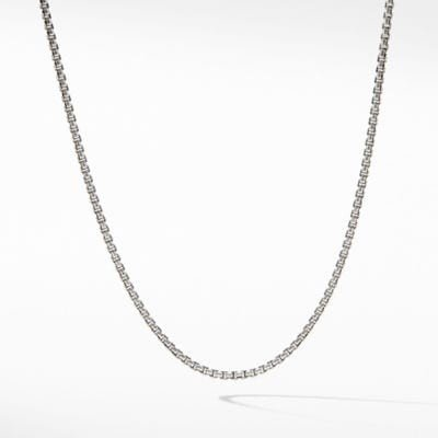 Baby Box Chain Necklace with An Accent of 14K Gold, 1.7mm