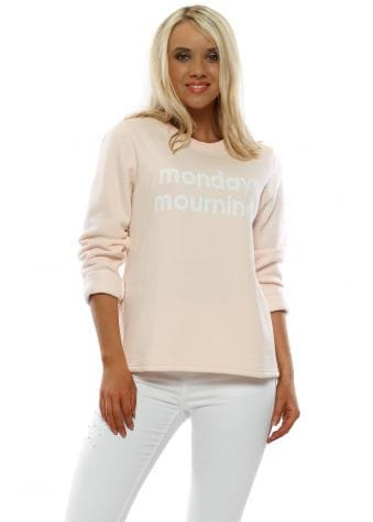 Pink Monday Mourning Sweatshirt