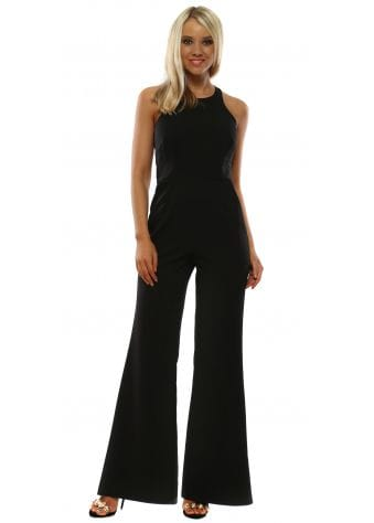 Vicky Pattison Black Halter Neck Jumpsuit