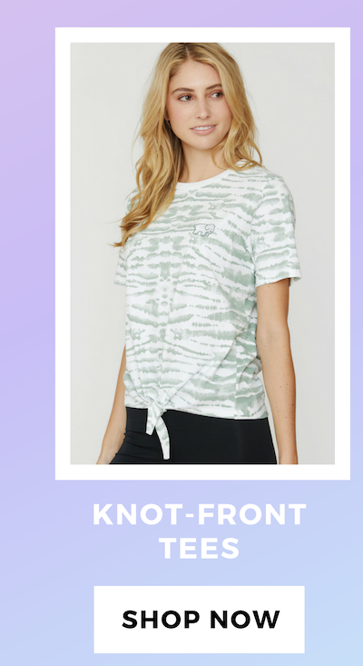 KNOT-FRONT TEES