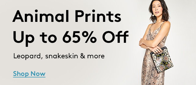 Animal Prints Up to 65% Off | Leopard, snakeskin & more | Shop Now