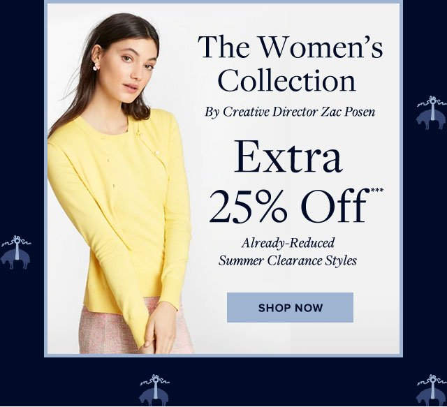 The Women's Collection By Creative Director Zac Posen - Extra 25% Off