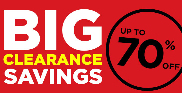 Clearance up to 60% OFF