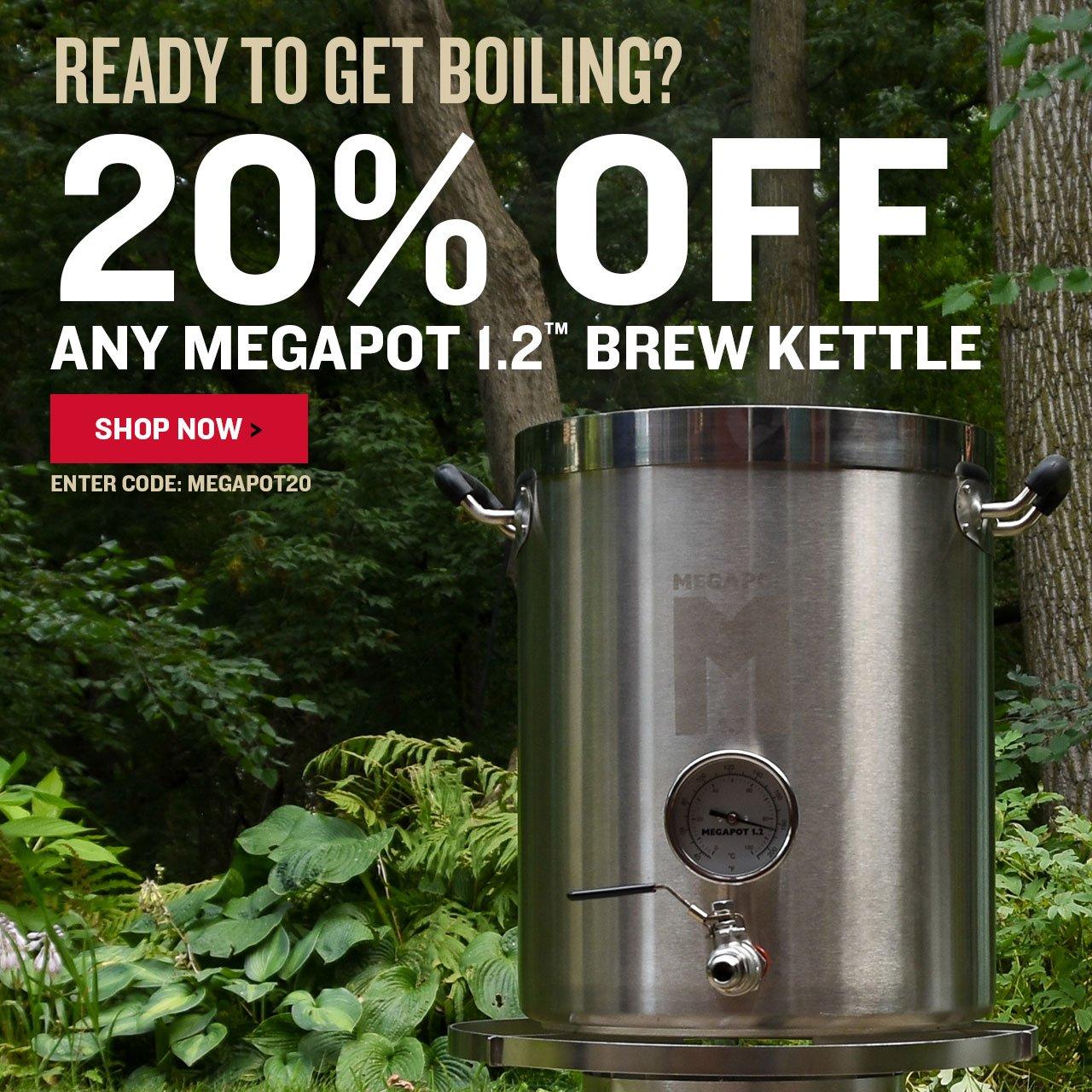 Take 20% Off Megapot Staineless Steel Kettles. Promo Code: MEGAPOT20
