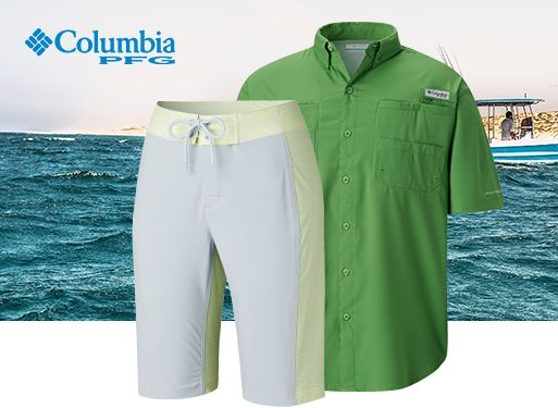 PFG top and bottoms for men and women.