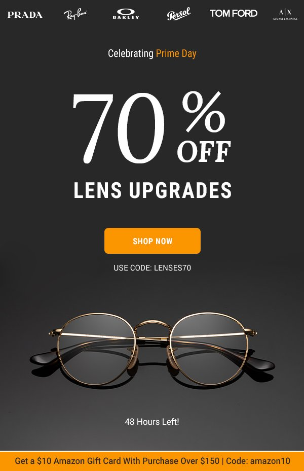 70% Off All Lens Upgrades >