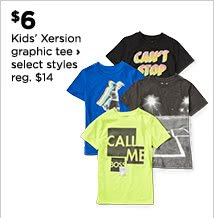 $6 Kids' Xersion graphic tee, select styles, regular $14