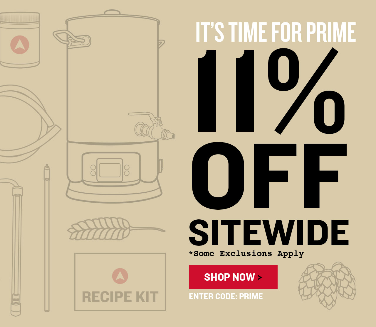 11% Off Sitewide for Prime Day. Promo Code: PRIMEDAY