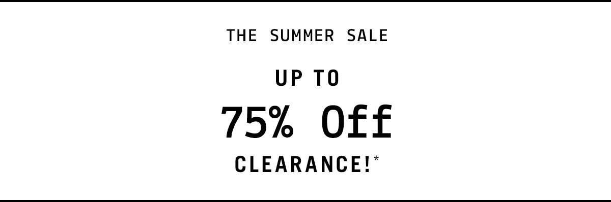 75% Off Clearence!*