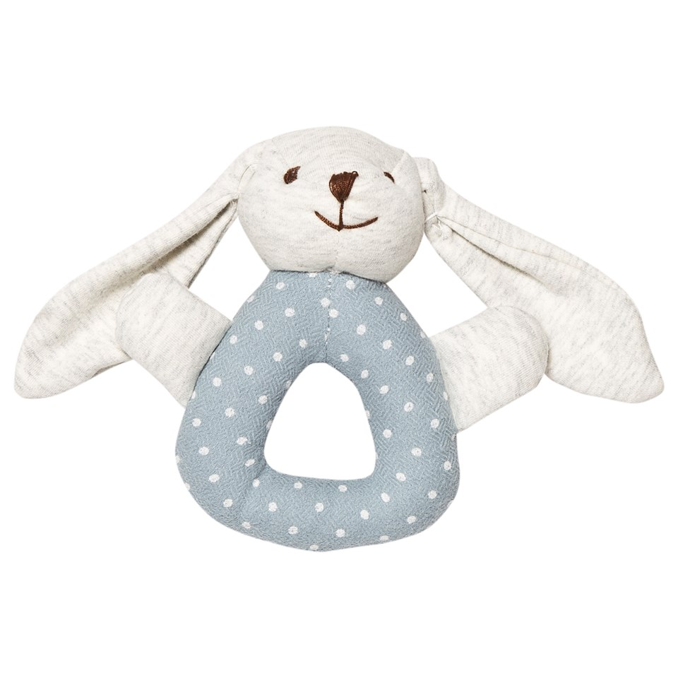 Stoy Blue Bunny Baby Rattle