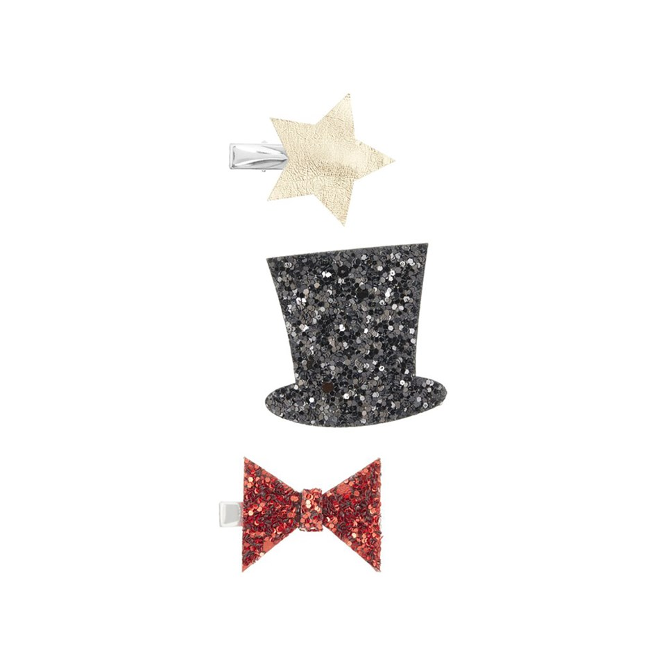 Mimi & Lula Pack of 3 Glitter Circus Hair Clips