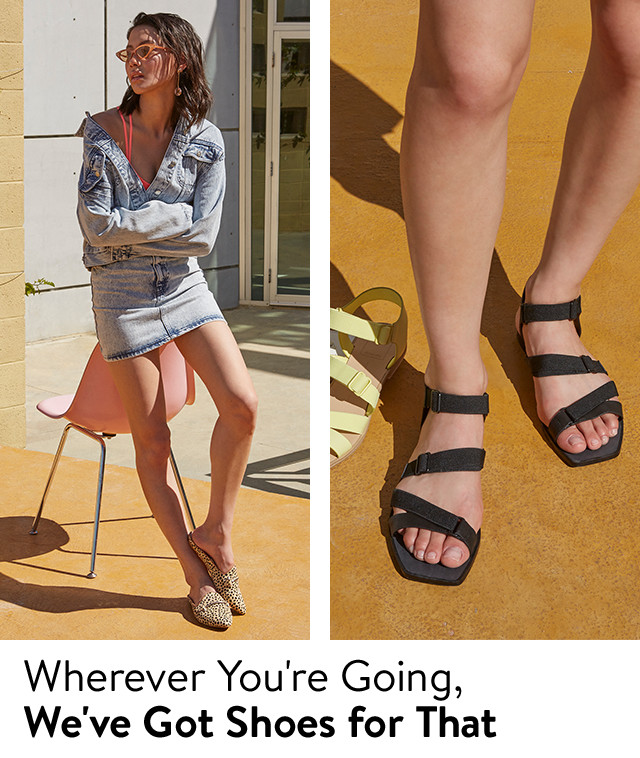 Shoes for weekends, vacation and more.
