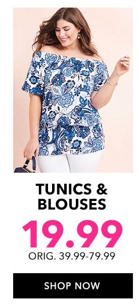 Shop Tunics & Blouses