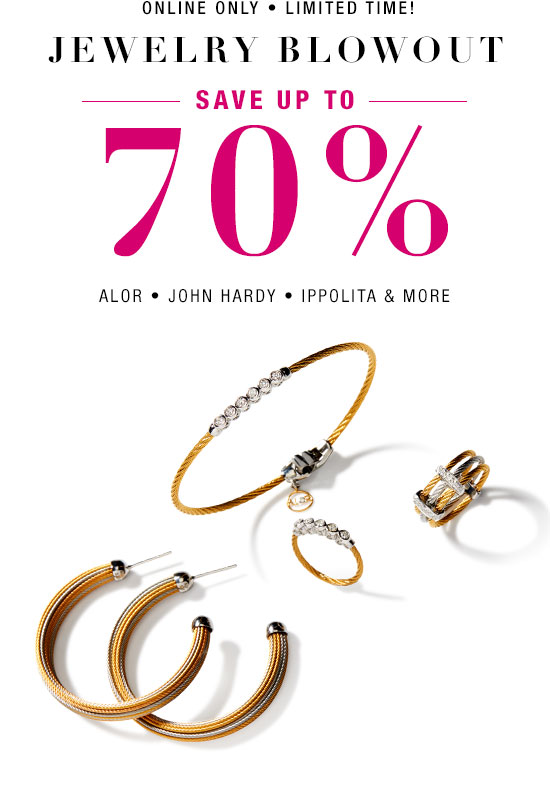 Jewelry Blowout: Save up to 70%
