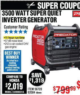 Harbor Freight: Top picks • Up to 83% Off - Generators