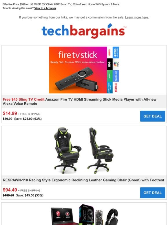 Techbargains: Final Hours of Prime Day: $15 Fire TV Stick