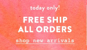 Free standard shipping on all orders.
