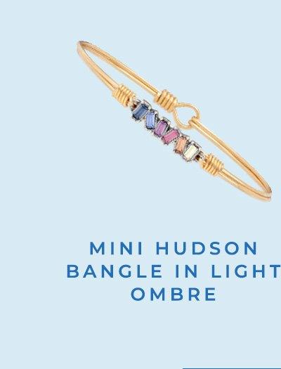 MINI HUDSON BANGLE IN LIGHT OMBRE
