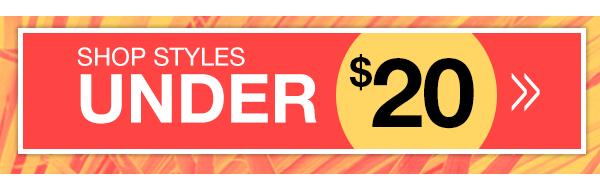 Shop Doorbuster Styles Under $20