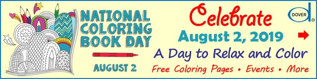 National Coloring Book Day is August 2