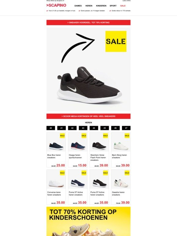 Scapino Email Newsletters: Shop Sales, Discounts, and Coupon ...