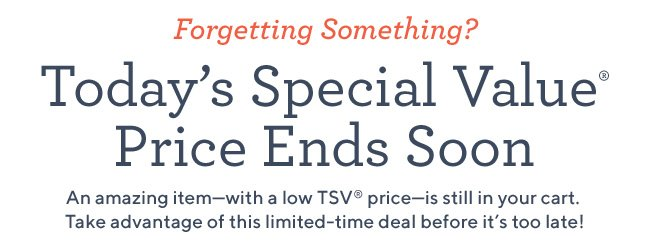 today's special value price ends soon