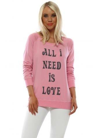 Angel Peach Melba All I Need Is Love Sweater