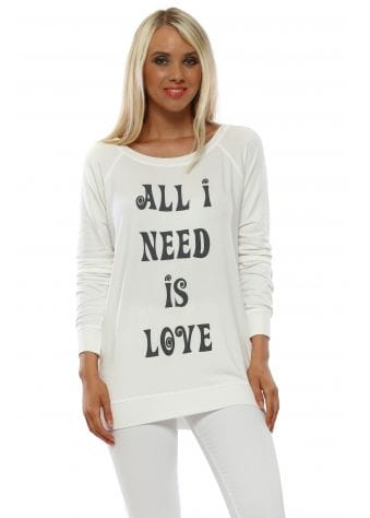 Angel Cream All I Need Is Love Sweater