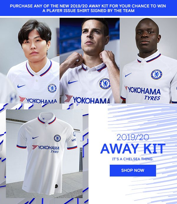 Chelsea Megastore: OUT NOW | THE NEW 2019/20 AWAY KIT | Milled