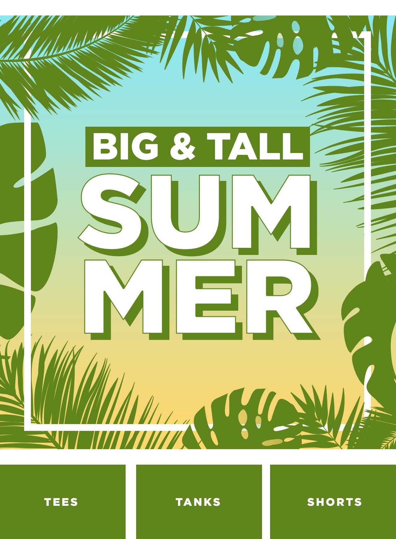 Big and Tall Summer at DrJays.com