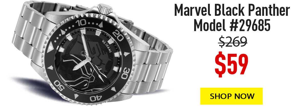 Invicta Marvel model 29685 black panther limited edition