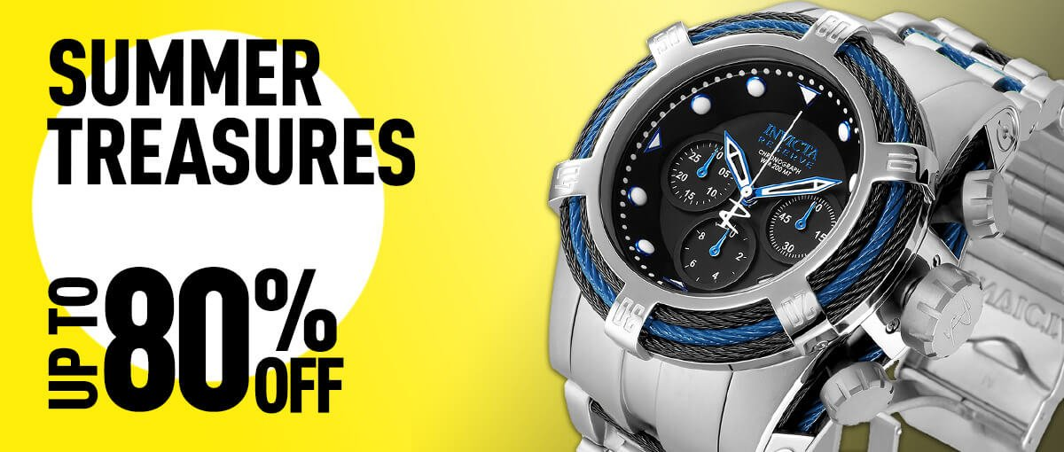 Invicta Summer Treasures up to 80% off