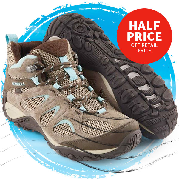 Merrell Men's and Women's Yokota Mid WP Walking Boots