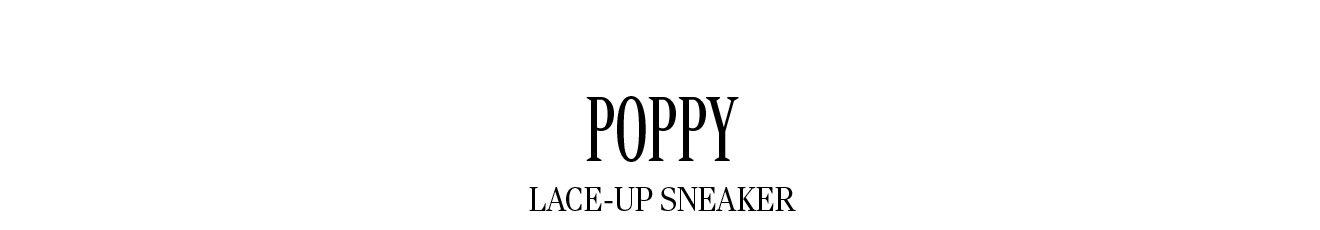 POPPY LACE-UP SNEAKER