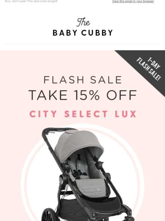 Baby Cubby City Select Lux Flash Sale Milled