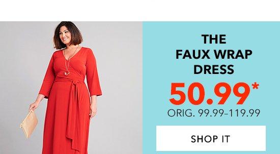 Shop The Faux Wrap Dress