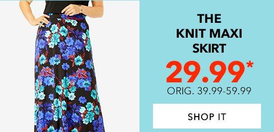 Shop The Knit Maxi Skirt