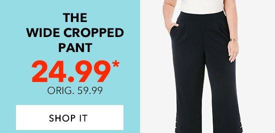 Shop the Wide Croppend Pant