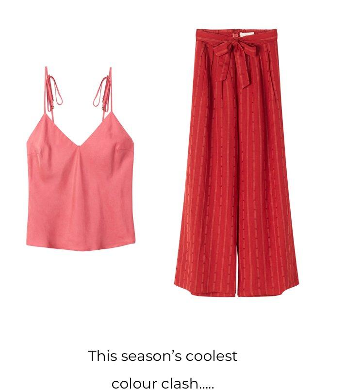This season's coolest colour clash....
