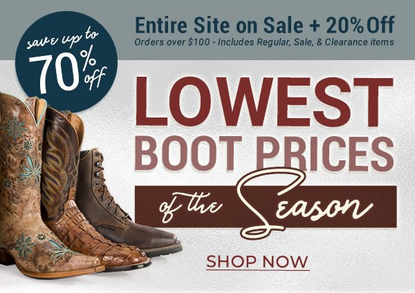 6228c07e51f Sheplers: Save Up To 70% On Your Favorite Boots | Milled
