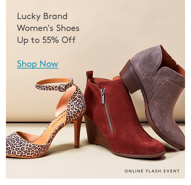 Lucky Brand | Women's Shoes | Up to 55% Off | Shop Now | Online Flash Event