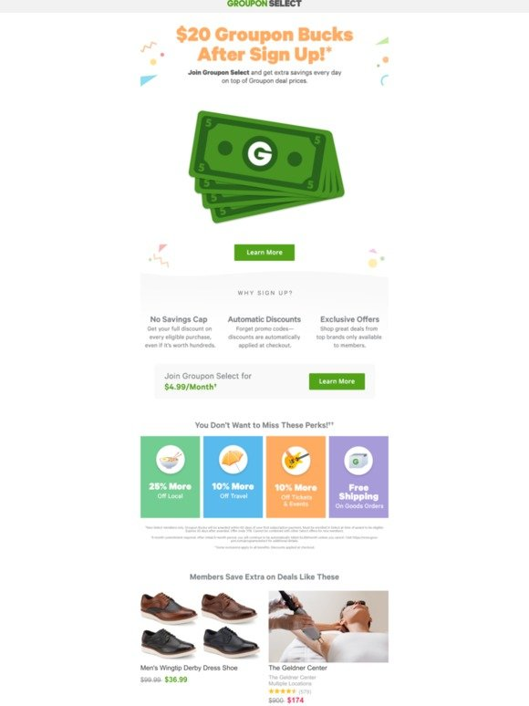 Groupon RU: Today ONLY: $20 Groupon Bucks When You Sign-Up