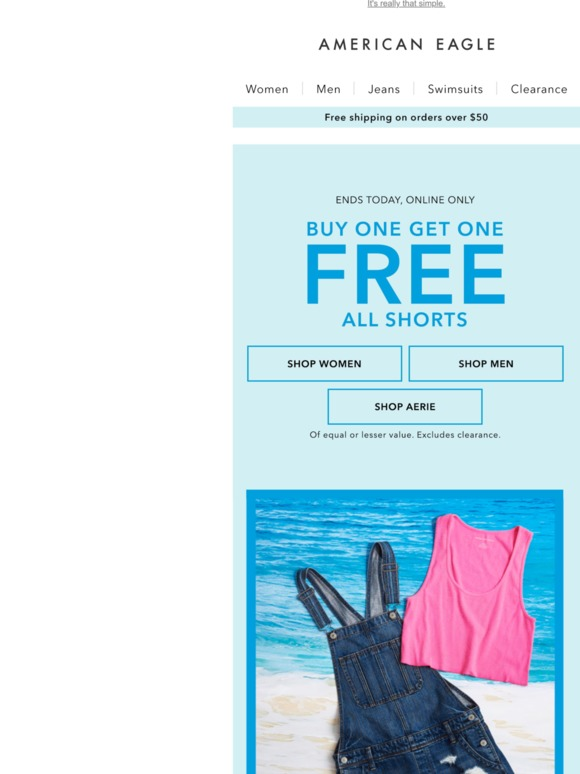 4e8d8509 American Eagle: LAST CHANCE to buy 1, get 1 🆓 | Milled