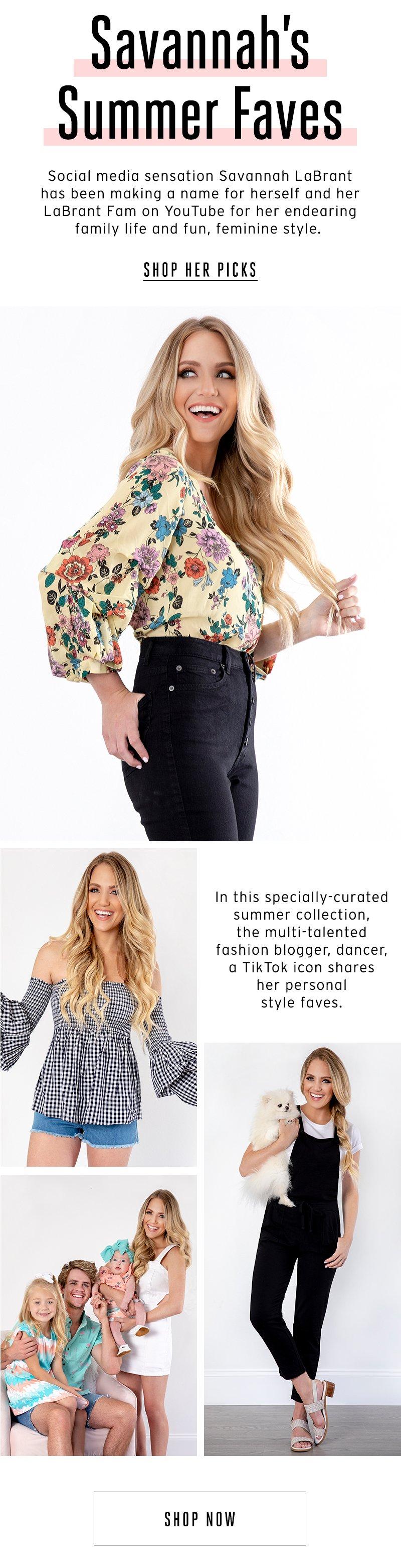 Savannah's Summer Faves. Shop her picks.