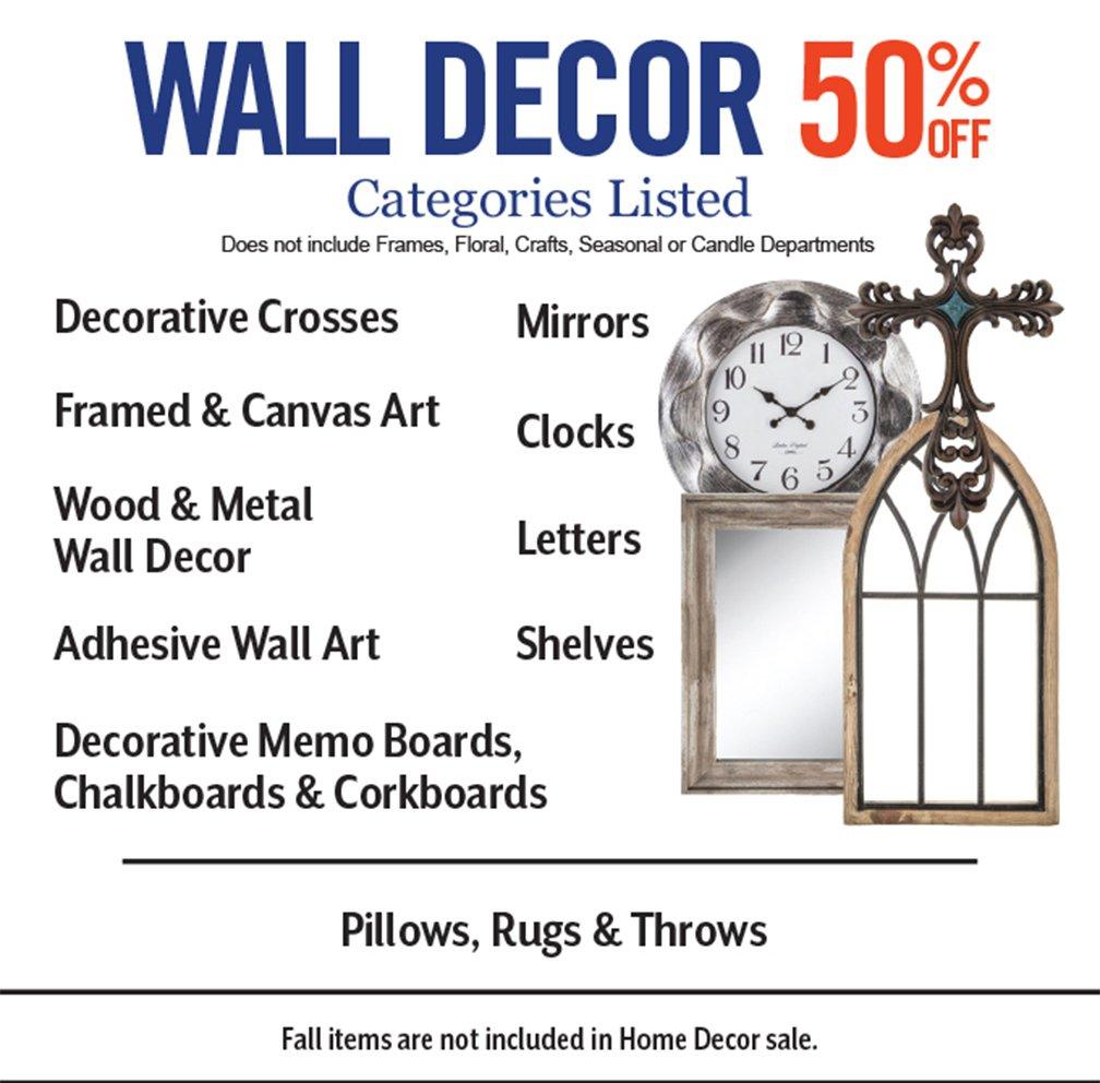Hobby Lobby: 50% Off Home Decor