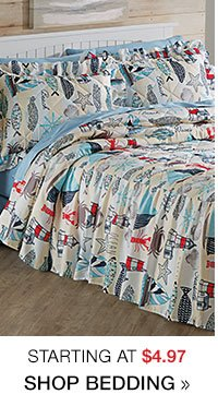 Shop Bedding Clearance starting at $4.97!