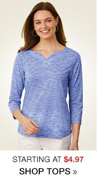 Shop Women's Clearance Tops starting at $4.97!