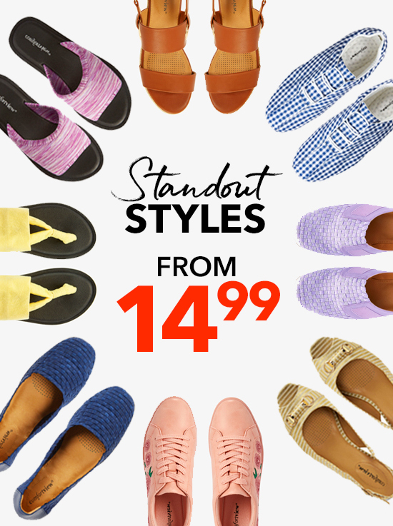 Standout Styles from 14.99